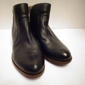 LUCKY BRAND Black Leather Ankle Boots Breck Size 6
